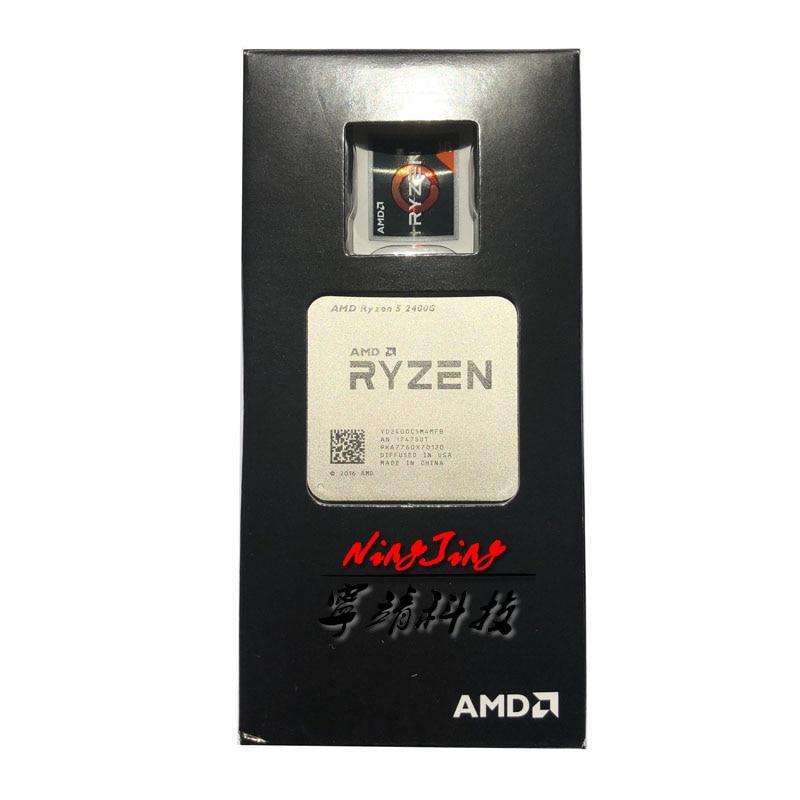 AMD Ryzen 5 2400G R5 2400G 3 6 GHz Quad Core CPU Processor YD2400C5M4MFB Socket AM4