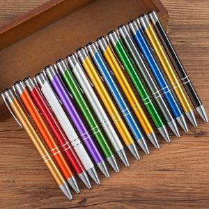 Image 1 - 500 pcs/lot Business Ballpoint Pens Stationery Ballpen Caneta Novelty Gift Zakka Office Material School Supplies Can Custom Logo