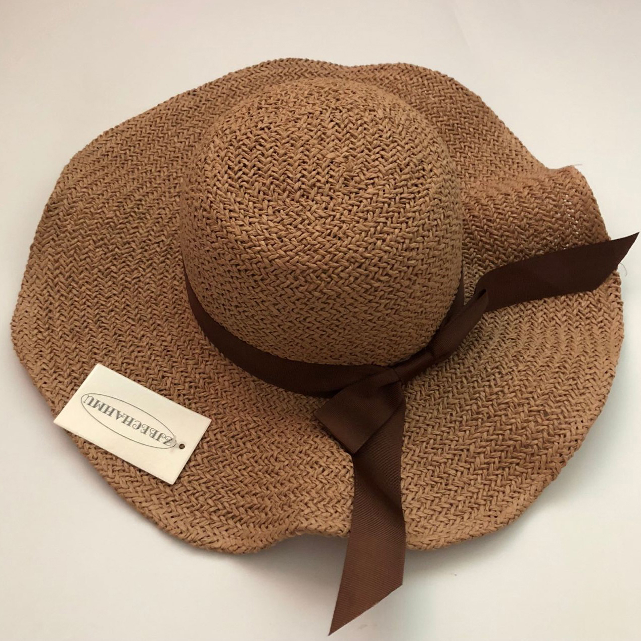 ZJBECHAHMU Hats Casual Solid Straw Sun Hats For Women Girl Summer Big beach sunshade Bow hat Lafite Straw high quality 2019 New in Women 39 s Sun Hats from Apparel Accessories