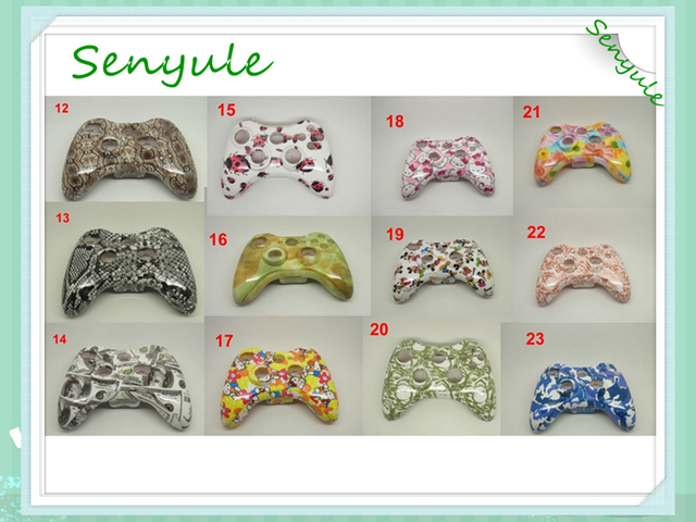 Controller Shell for Xbox360 with all spare parts Water Water Transfer printing Film - Hydro Dip Pattern
