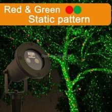 Красный зеленый firefly Рождество водонепроницаемый лазерный проектор, открытый Рождественская звезда лазерные лучи, лазерная Рождество дома проектор
