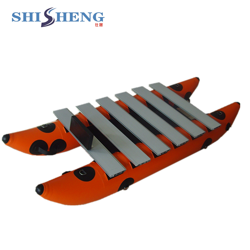 CE aluminum floor inflatable catamaran boat for sale ce approved inflatable fly fishing float tube belly boat for sale