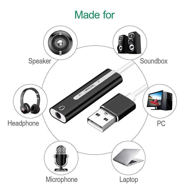 2 в 1 USB внешняя звуковая карта USB до 3,5 мм Стерео Джек адаптер для наушников новое поступление