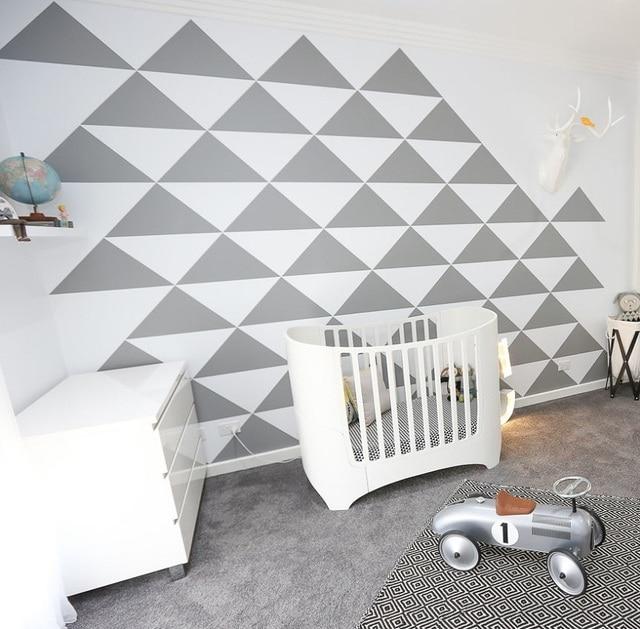Geometry pattern wall decoration sticker for Kid\'s bedroom ...