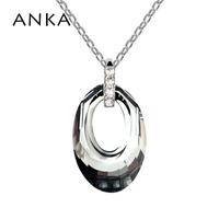 Free Shipping Fashion Crystal Jewelry Ellipse Crystal Pendant Hollow Oval Necklace Evening Dress Wedding Dress 84001