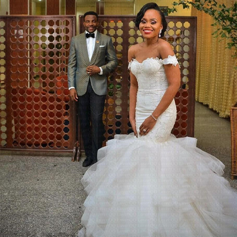 Nigerian Wedding Gowns: 2019 African Nigeria Mermaid Wedding Dresses Sheer Jewel