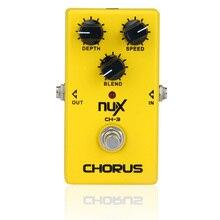 NUX CH-3 электрогитары педаль эффектов хора низкая шум BBD Правда Обход Высокое качество гитарная педаль эффектов