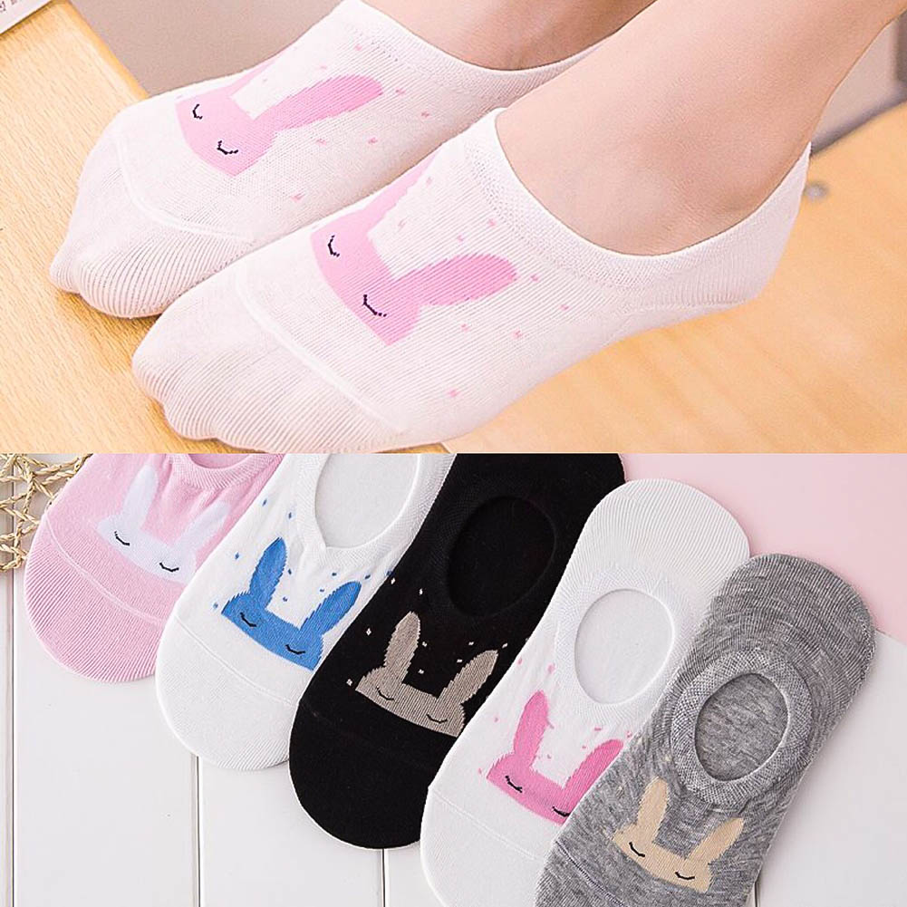 Women Socks Cute Cotton Ankle Sock Suit for Summer Spring Stretchy Shaping Many Kinds of Design Styles Female Girls Sock 5 Pairs