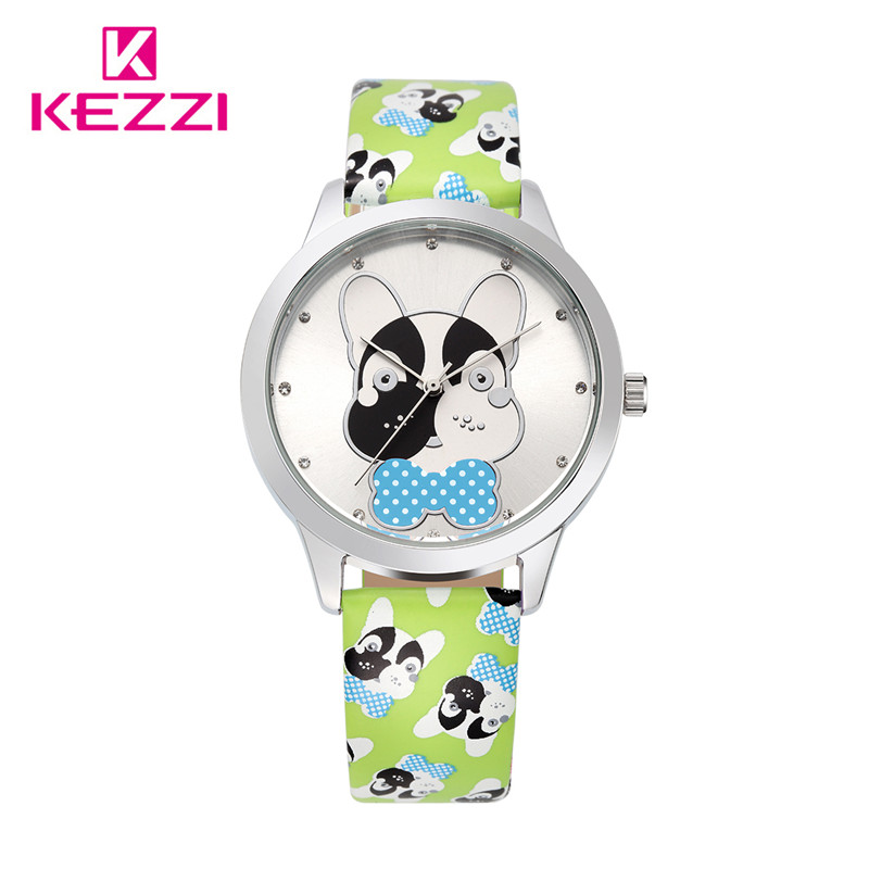 Cute Cartoon Lightning dog Fashion Students Kids Quartz Watch Famous Brand Leather Strap Casual Women Men Watches Children Gifts