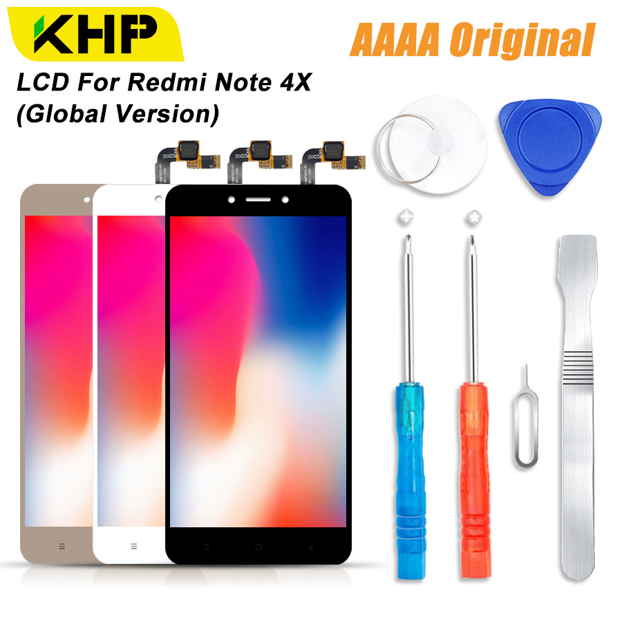 2018 KHP 100% AAAA Original LCD Screen Für Xiaomi Redmi Hinweis 4X LCD Globale Version Display Touch Modul Bildschirme Ersatz LCDS