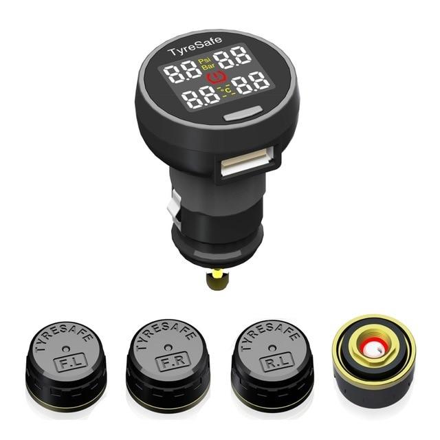 Распродажа Tyresafe TP200 TPMS с USB разъем шин Давление системы мониторинга монитор Поддержка бар и бар