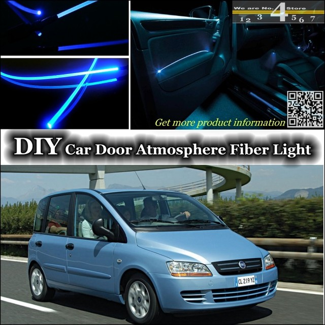pour fiat multipla intrieur lumire ambiante tuning atmosphre fiber optique bande lumires lintrieur