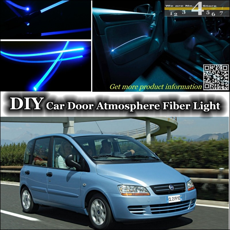 voor fiat multipla interieur omgevingslicht tuning sfeer glasvezel band lichten binnen deur. Black Bedroom Furniture Sets. Home Design Ideas
