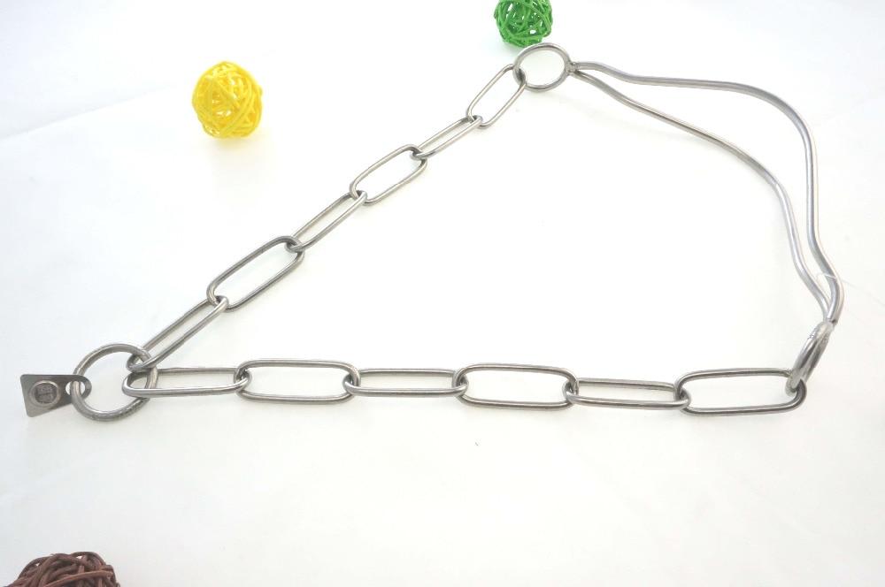 Gujia 7211 magas rozsdamentes acélból készült kutya nyakörv német stílusbemutató gallér