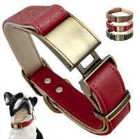 Hund Kragen Leder Haustier Kragen Verstellbare, Gepolsterte Kragen Perro Metall Hund Zubehör Für Medium Large Hunde Französisch Bulldog Pitbull