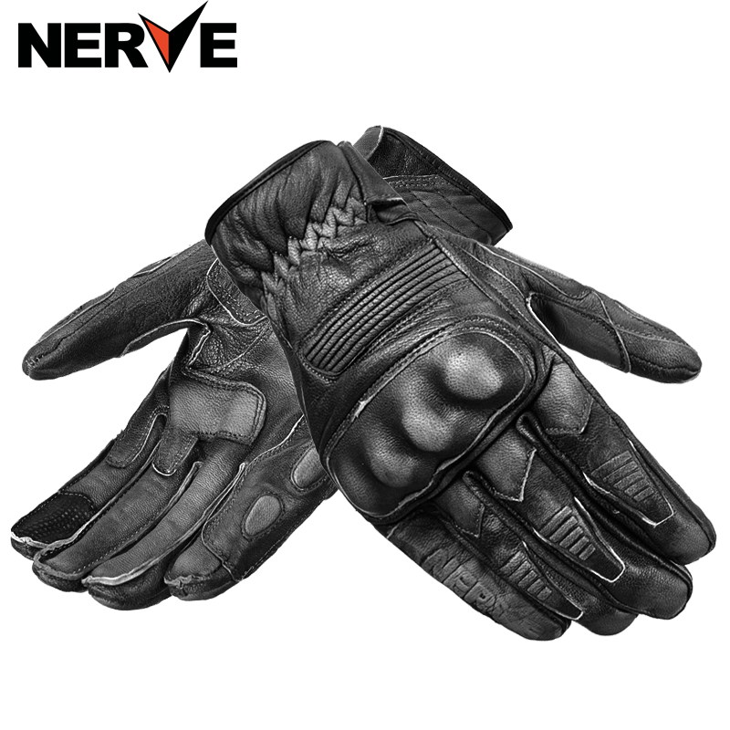 NERVE Knight Protective Gear Performance Sheepskin gloves, Bike Motorcycle Motorbike moto Racing cycling Leather Gloves womanman scoyco motorcycle riding knee protector extreme sports knee pads bycle cycling bike racing tactal skate protective ear