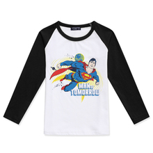 Boys Long Sleeve Top 2019 New Kid Clothes Children Cotton T Shirts Baby Boy Tees Fashion Hipster Superman Printed Girls T-Shirts