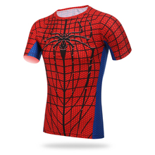 Spider Men Outdoor Cycling Shirt Short Sleeve Quick Dry Clothing Fishing Hiking T-Shirt Running  Cycling Jerseys Two Colors