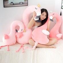 Babiqu 1pc 80/115cm bonito rosa flamingo pelúcia brinquedos animais selvagens pássaro cisne bonecas para crianças casa decoração presente de aniversário para os amantes