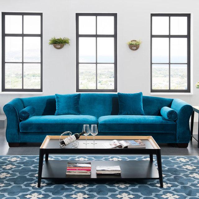 Ashford Wooden Sofa Slipover, Elegant Fabric Sofa With Cushion,Wooden And  Linen Sofa