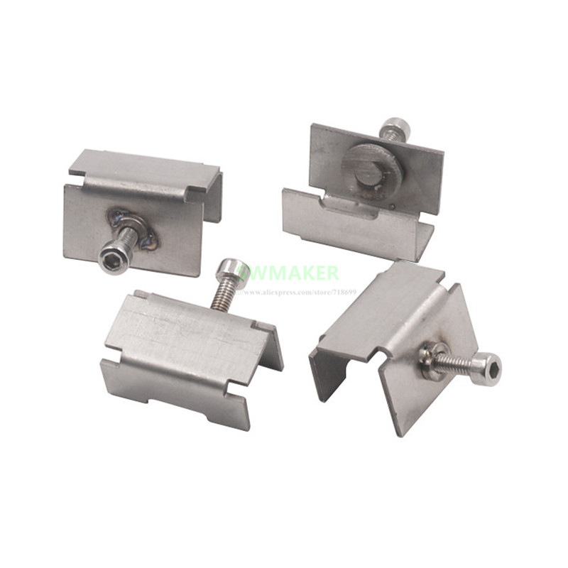 4pcs 3D printer Special heated bed glass clamp clip Stainless steel clip for Reprap 3D printer acces