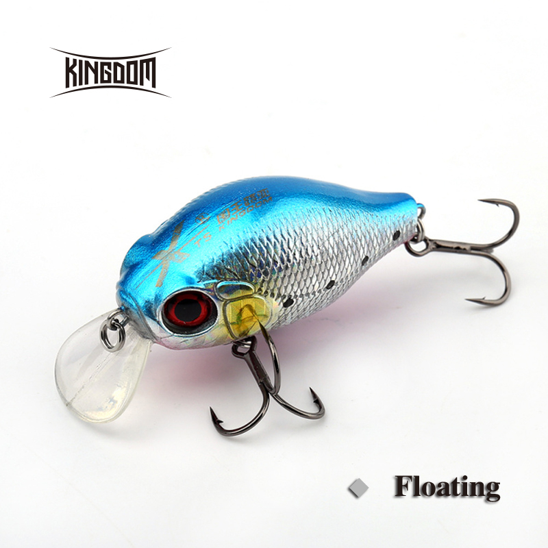 Kingdom Fishing Hard Lure 45mm 7.5g Artifical Crank Bait Plastic Lip With VMC Hooks Six Colors Available Model 3528 kingdom 130mm 20g minnow fishing lures hard bait fishing tackle plastic lip vmc hook for sea water five colors model 3523