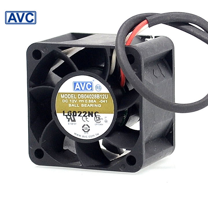 2pcs New 4028 0.6A 1U 12V server winds of DB04028B12U PWM fan speed control 40*40*28mm (1set)