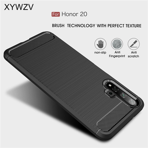 Image 1 - For Huawei Honor 20 Case Armor Protective Soft TPU Silicone Phone Case For Huawei Honor 20 Back Cover For Honor 20