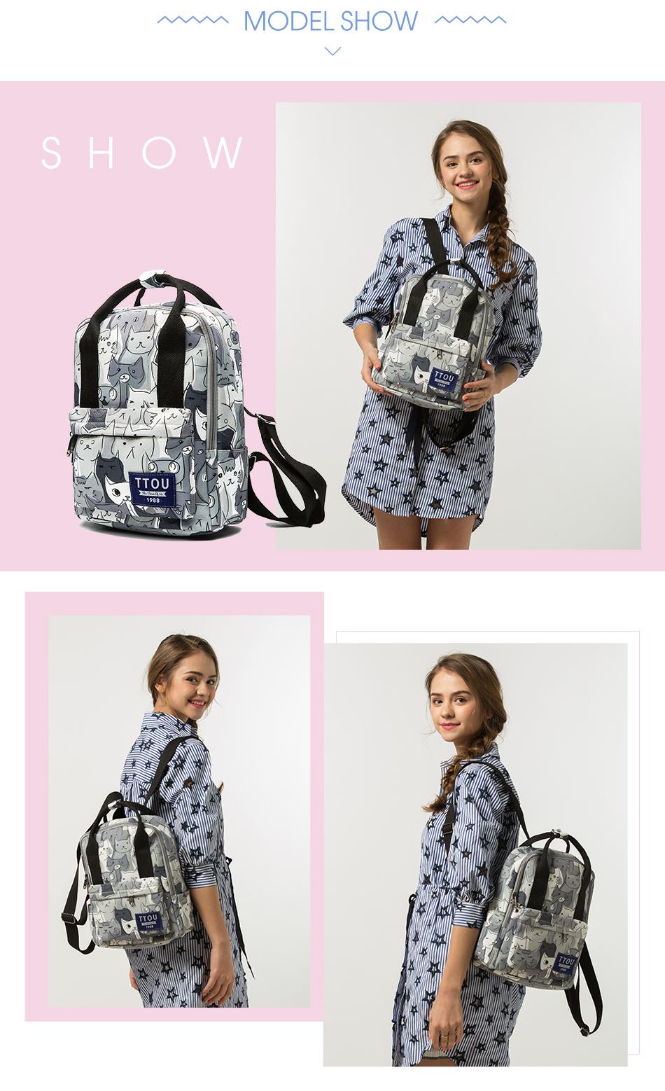 Teenage Girls Cat School Bag
