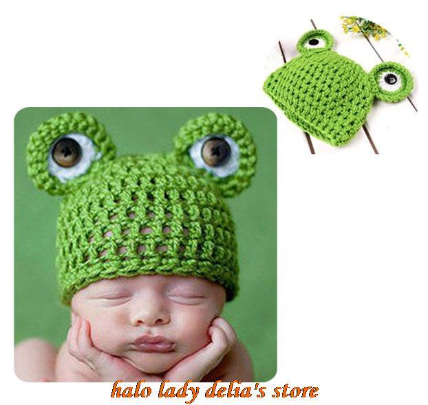 5 unids rana animales gorros sombreros sombreros bebé mano de punto ...