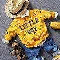 Только майка 1 шт. 2-7Y новый 2017 весна мальчики мода письмо футболка мальчики весна осень одежда дети майка мальчики случайных свитер