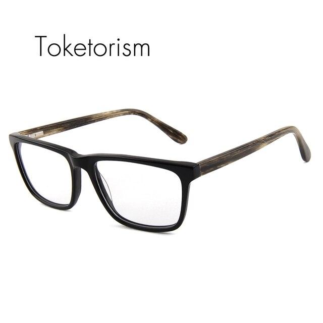 Высокое качество классический Квадратная рамка китай очки Близорукость очки кадр мужчины женщин Anteojos 611F
