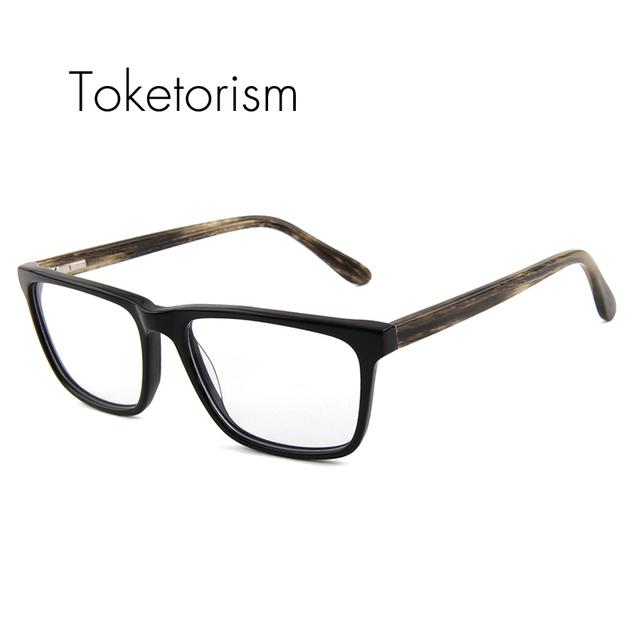 Alta calidad Cuadrada clásica china marco de anteojos de La Miopía gafas de marco hombres mujeres Anteojos 611F