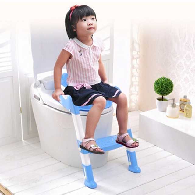 99dff8cca 2016 New Design Portable Folding Ladder Toilet Baby Potty Training Chair  Plastic Toilet Stand Seat for Children Baby