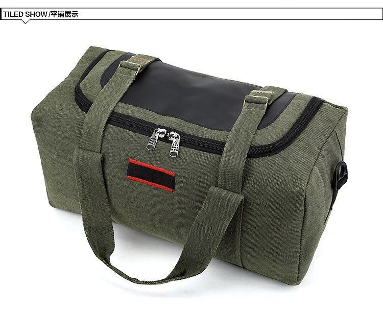 Men Outdoor Casual Canvas Gym Travel Duffel Bag Large Capacity High Quality Messenger Crossbody Shoulder Tote Travel Bags (15)