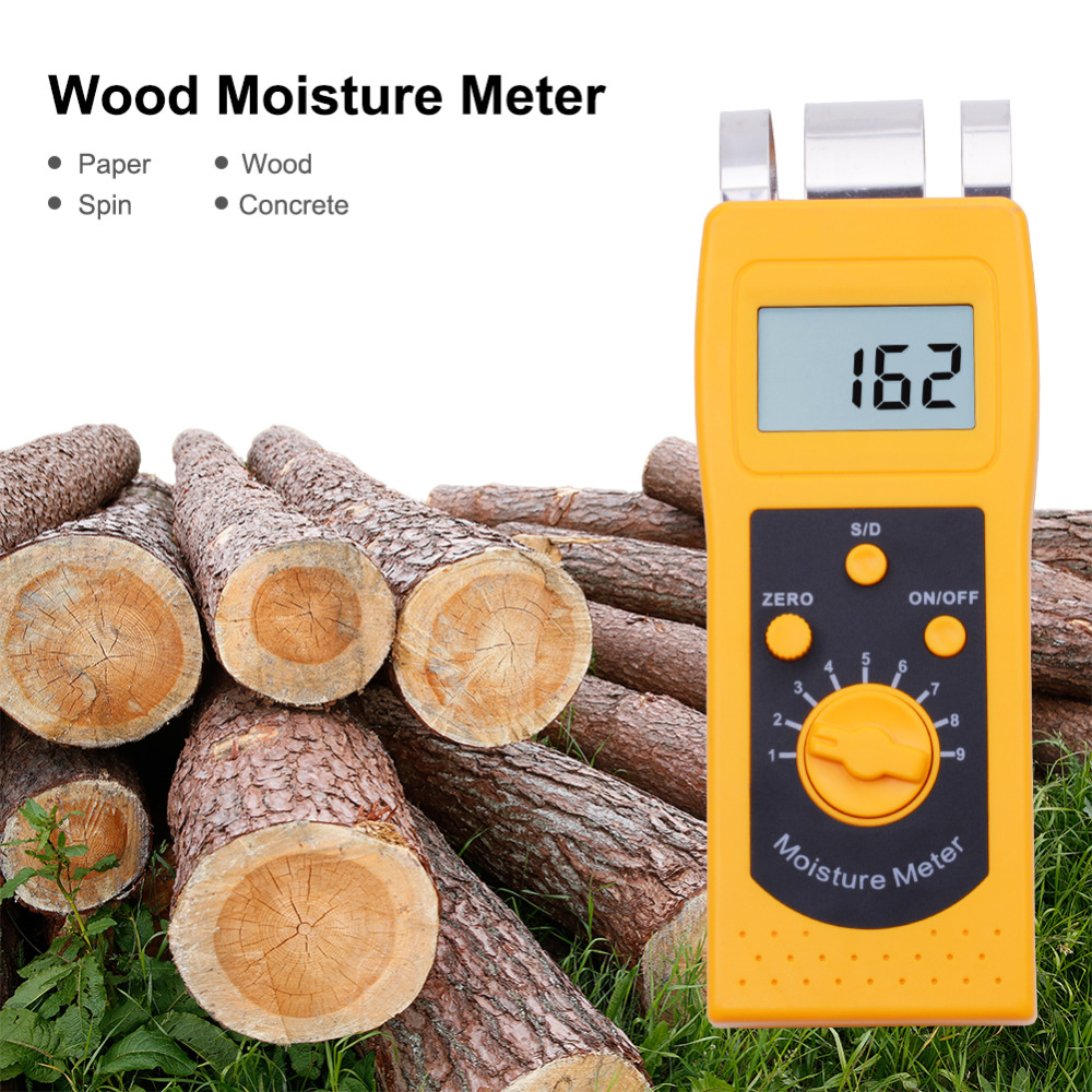 DM200W Inductive Wood Moisture Analyzer Measuring Wood Product Moisture Moisture Meter Change Portable Wood Moisture Test Tool digital inductive moisture meter for measuring wood mud ground range 0 100