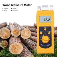 DM200W Inductive Wood Moisture Analyzer Measuring Wood Product Moisture Moisture Meter Change Portable Wood Moisture Test Tool