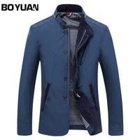 BOYUAN Men Jacket Coat Long Section Fashion Coat Jaqueta Male Veste Homme Brand Casual Fit Overcoat
