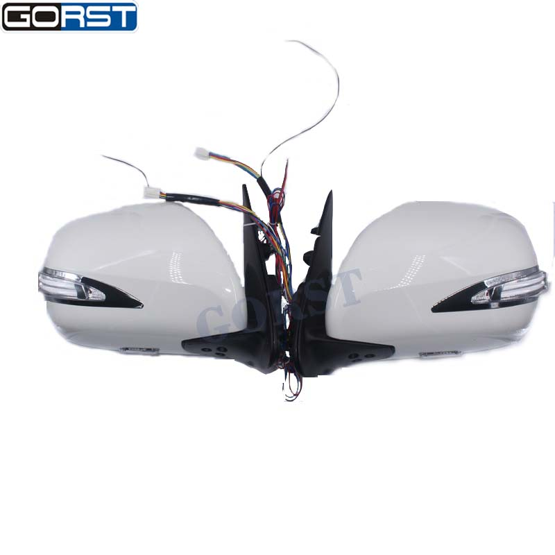 Accessories Car Styling Electric Reflector Rearview Mirror Side Mirror Exterior With Led Light For Toyota Hiace