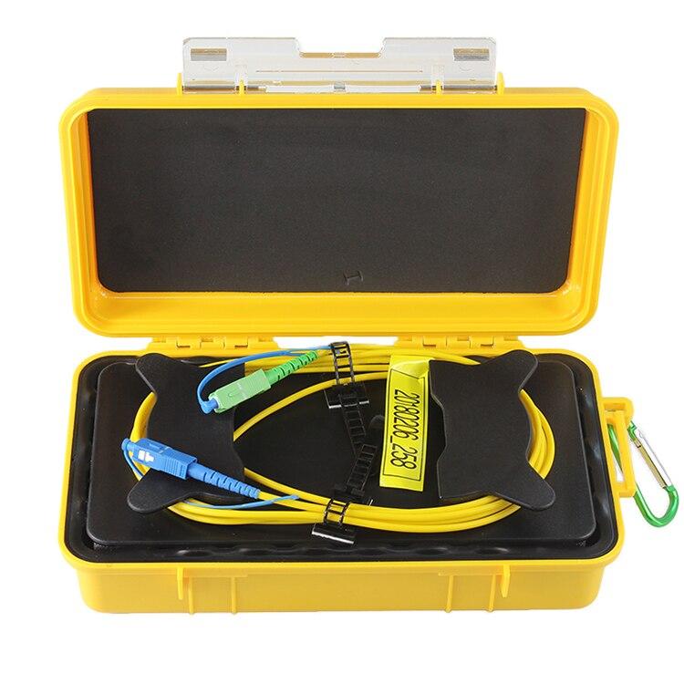 Fiber Optique OTDR Lancement Câble Boîte SM 1310/1550nm SC/UPC-SC/APC Fiber Anneaux OTDR Zone Morte eliminator