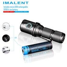 IMALENT DM70 lampe de poche CREE XHP70.2 max 4500 lumen distance de faisceau 306 mètre torche portable + 21700 5000mAh batterie rechargeable