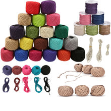 Burlap Jute Twine Natural Sisal String Hemp Rope Rustic Wrap Gift Packing String Christmas Wedding Party Decoration Supplies(China)