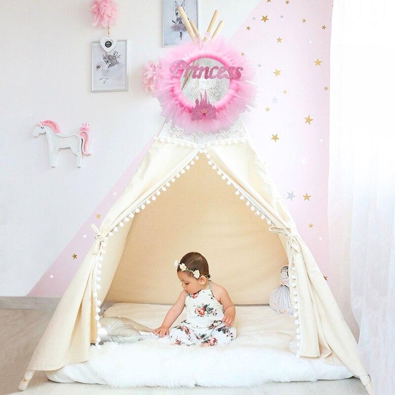 90453591c5225 Pink Blue Princess Tutu Flower Wreath Garland For Front Door Outdoor Hanger  Tipi Tent Decoration For Kids Baby Room Decor