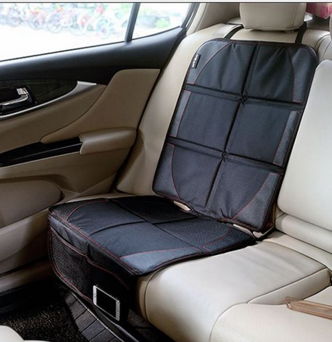 1 Piece Luxury Car Styling Black Leather Car Seat Protector Child or Baby Auto Seat Anti-slip Anti-friction Mat Protection