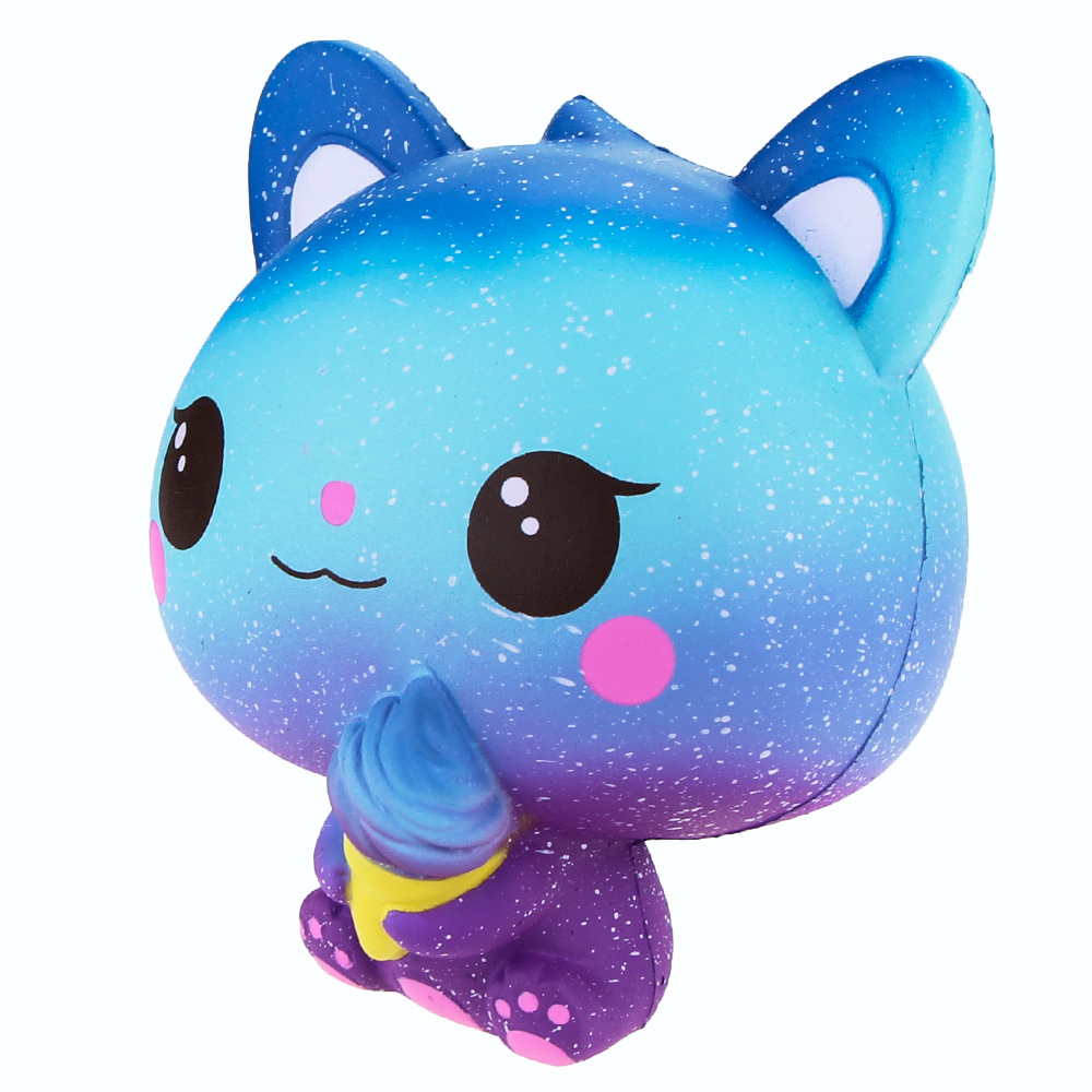 Jumbo Squishies Slow Rising Scented Ice Cream Cat Kawaii Squishy Stress Relief Toys Jumbo Decoration Squishy Fun Collection For Kids and Adult (Galaxy Blue) (3)