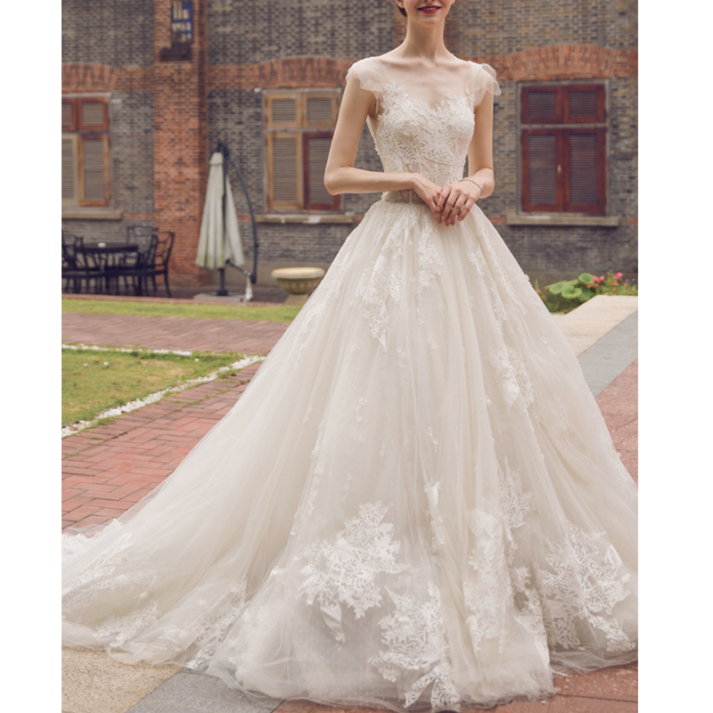 μακρύ μανίκι μανίκι μουσουλμανική - Γαμήλια φορέματα - Φωτογραφία 4