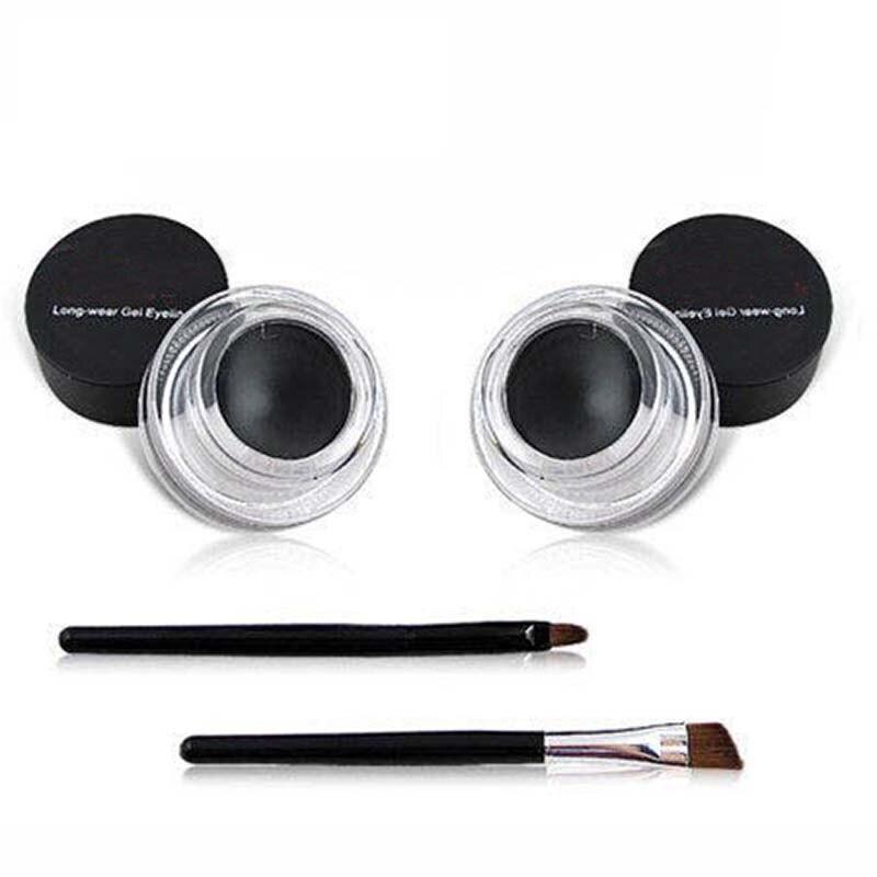 Best Seller 2 in 1 Coffee + Black Gel Eyeliner Make Up  Waterproof Cosmetics Set Eye Liner Makeup Eye maquiagem1049 1