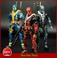 """6 """"17 cm PVC Os Vingadores Super Herói da liga da Justiça Deadpool X-MAN Action Figure Coleção brinquedos Modelo de Brinquedo 3 estilo"""