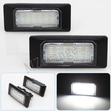 цена на Car LED License Plate Lights For Volkswagen Golf 6 Passat B6 B7 Polo 4D For Jetta MK6 For Touran Touareg For Audi A6 c7 A1 A7 TT