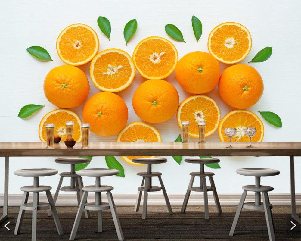 オレンジフルーツテクスチャ葉食品写真 3d 壁紙壁画 Papel デ Parede